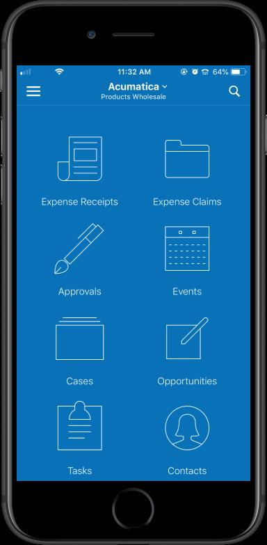Acumatica ERP Y CRM - ClandBus Dispositivo móvil