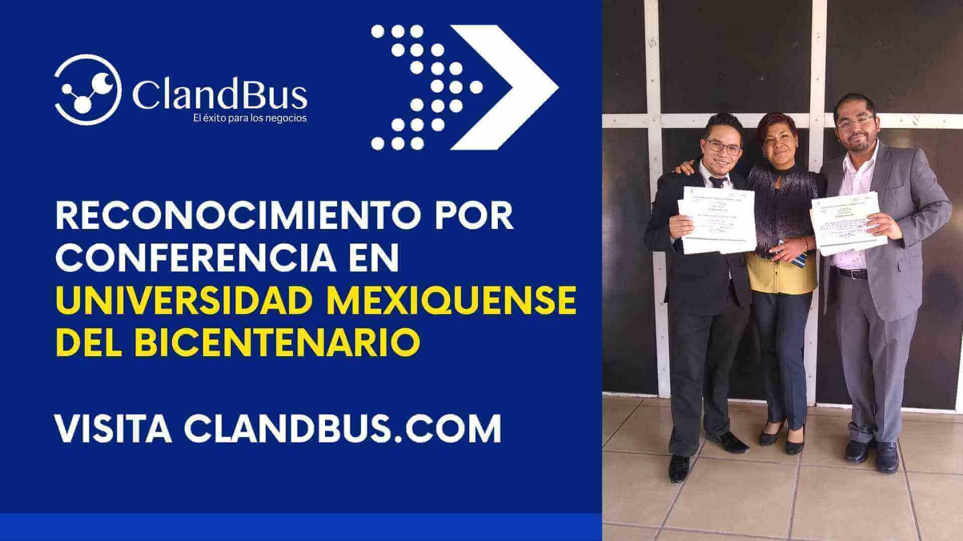 Conferencia en la UMB - RECONOCIMIENTO POR CONFERENCIA EN UNIVERSIDAD MEXIQUENSE DEL BICENTENARIO
