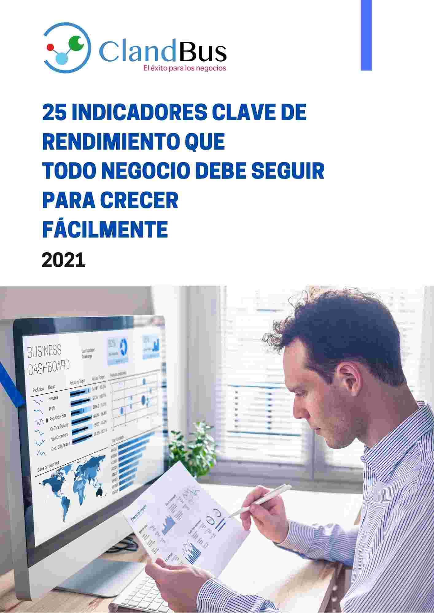 E-book - Realiza 25 Indicadores de Rendimiento KPI para tu empresa con Acumatica ERP y ClandBus. Aumente las mejores toma de decisiones