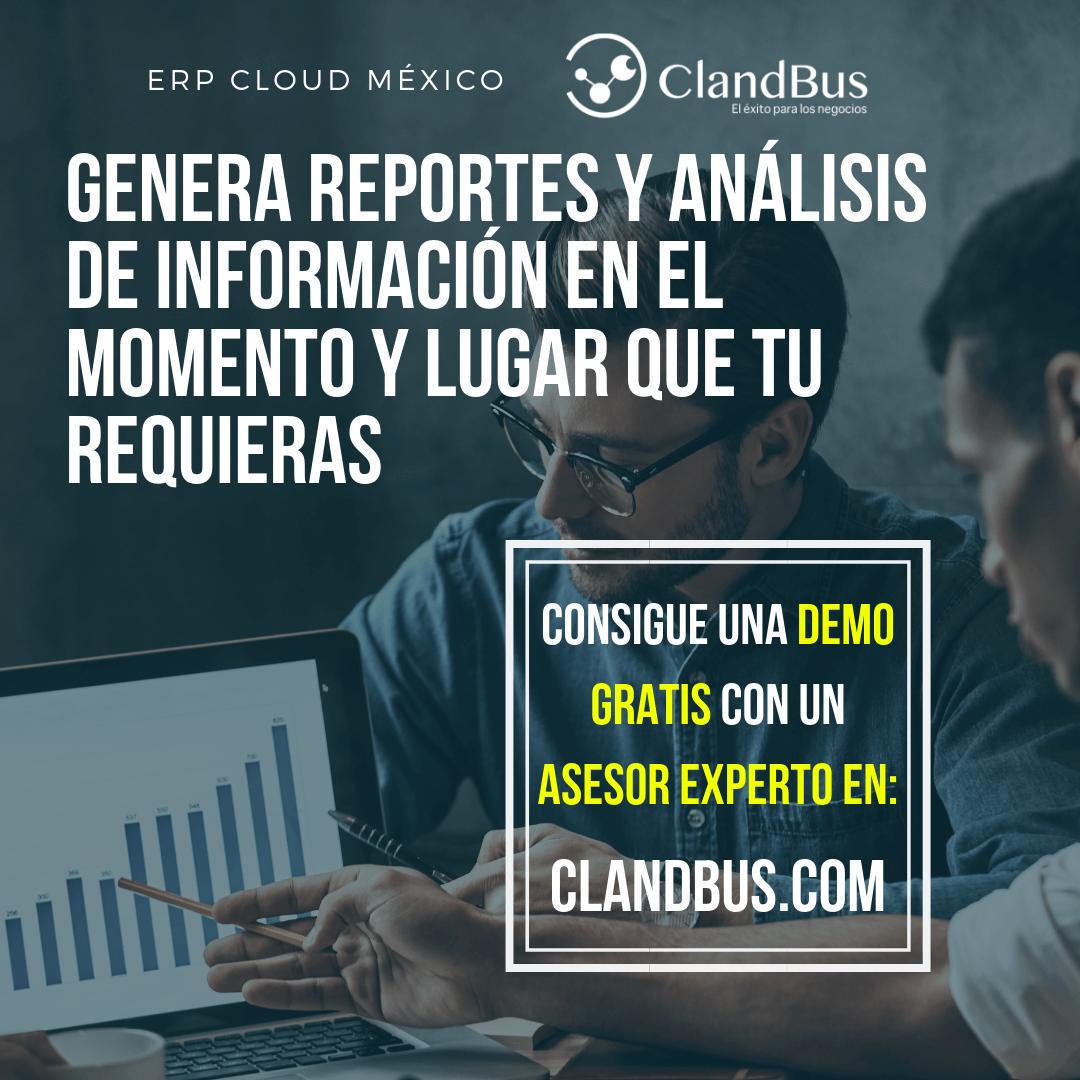 ERP SERVICIOS CLOUD - Reportes y análisis de información