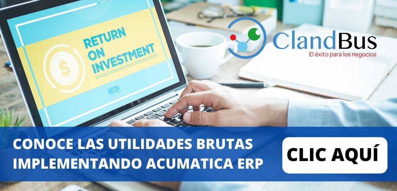 Impacto Económico Acumatica ERP-CONOCE LAS UTILIDADES BRUTAS IMPLEMENTANDO ACUMATICA ERP