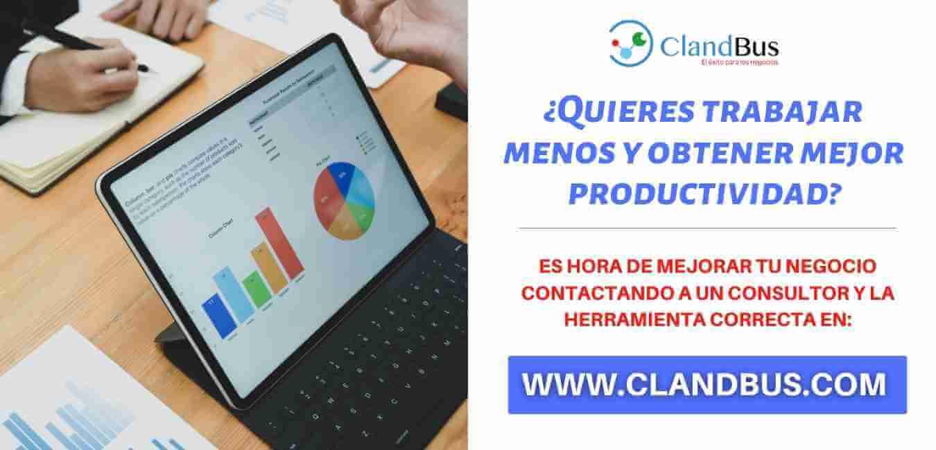 Incrementar la productividad - Trabajar menos y mejora tu mejor productividad con la herramienta de Acumatica y las mejor asesoría de ClandBus