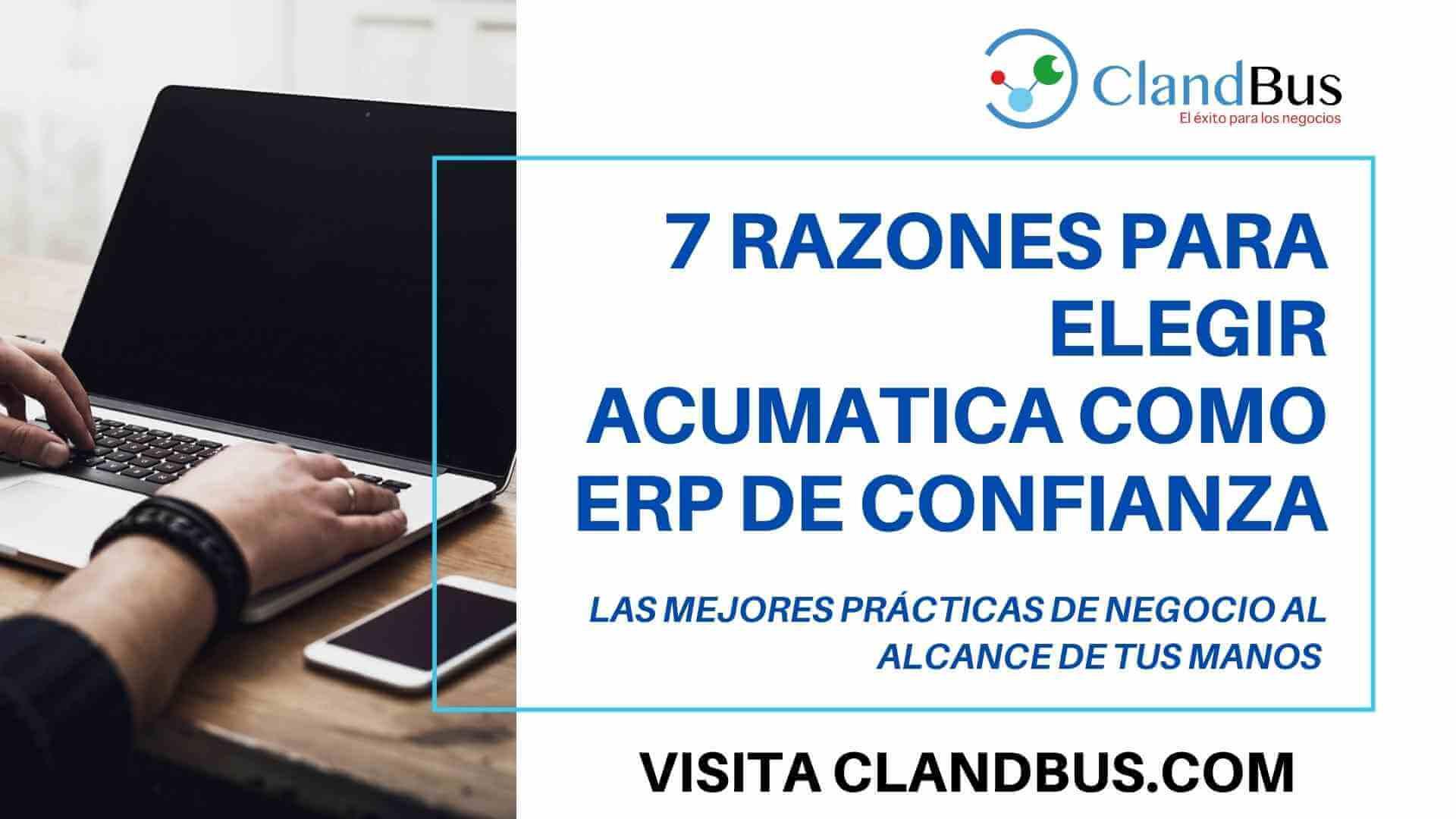 SAP - 7 razones para elegir Acumatica como ERP de Confianza