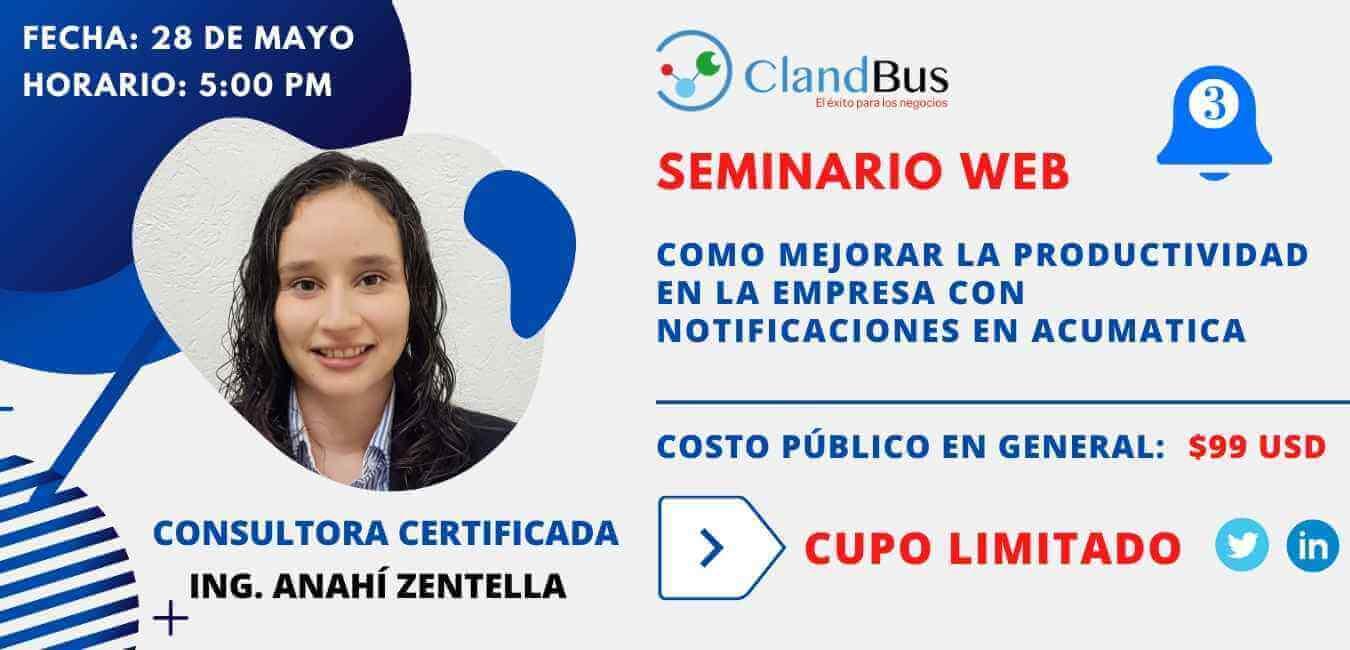 SEMINARIO WEB _Como agregar y personalizar campos en Acumatica para personalizar tus reportes de venta