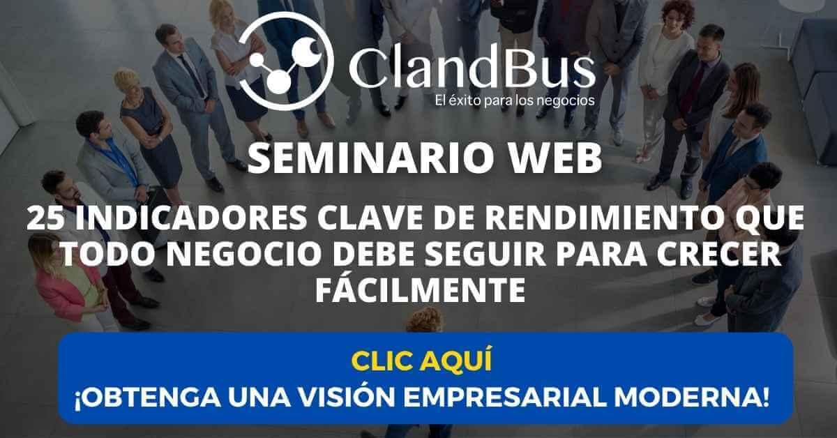Seminarios Bajo Demanda - Seminario Web 25 indicadores clave de rendimiento para todo negocio con ClandBus Socio de negocios