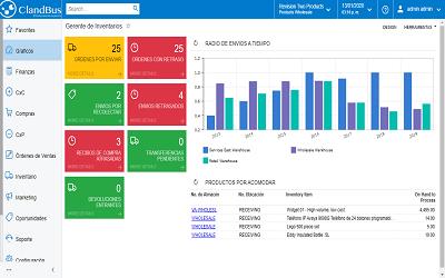Software para inventarios -Pantalla de accesos rápidos para tu empresa