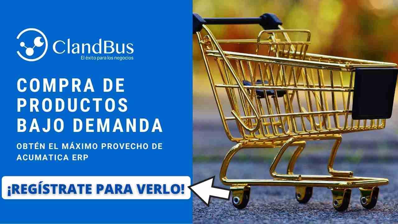 Videos de Acumatica -Agilice sus compras y no se quede sin materiales o productos sobre la requsicion de los clientes gestionando los proveedores por asesores ClandBus