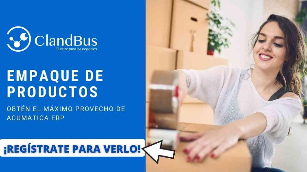 Videos de Acumatica -Aumenta la eficiencia del empaque de productos y evita retrasos al satisfacer al cliente fina con Consultoria de ClandBus