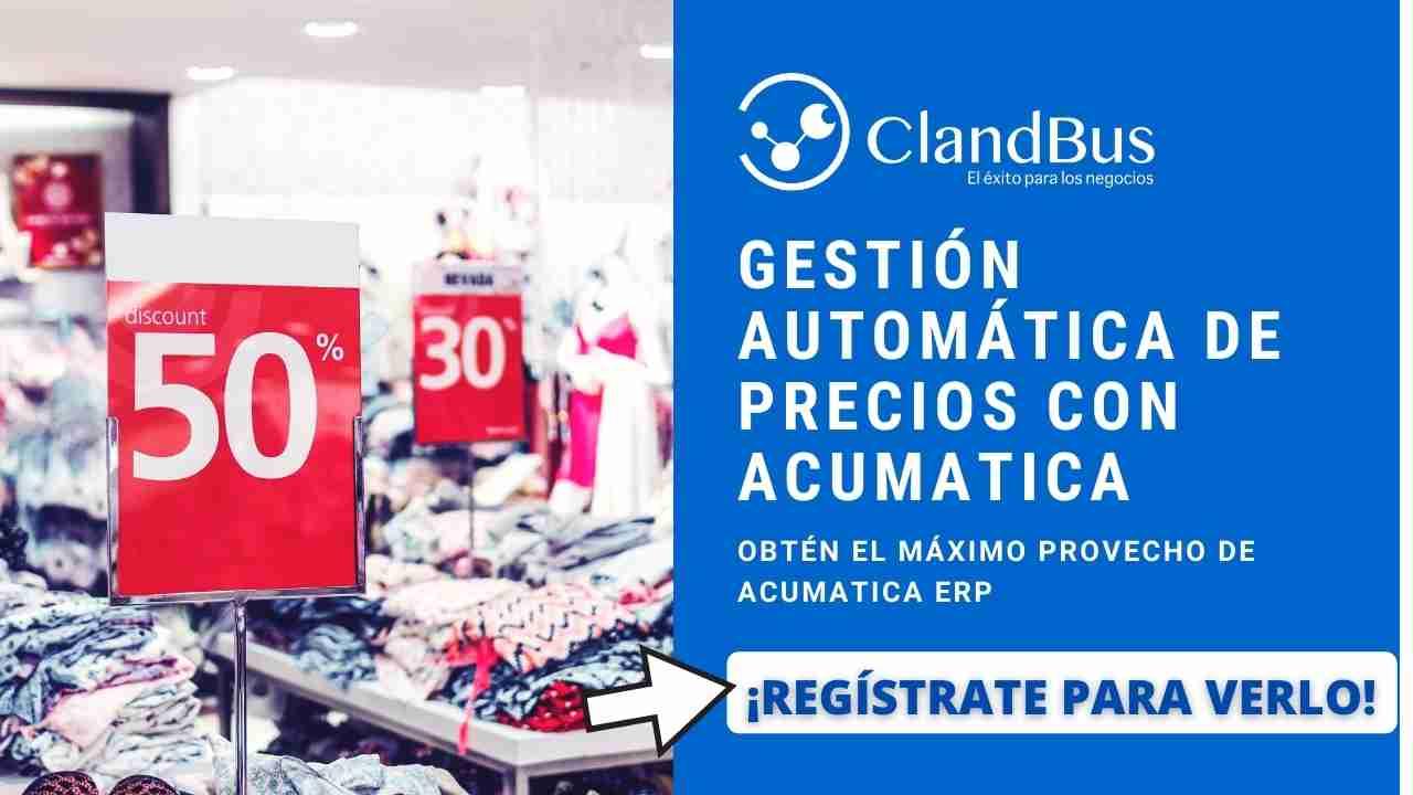 Videos de Acumatica - Automatice la gestión de precios por zona o mercado cambiante y satisfaga a sus clientes rápidamente con ayuda de socios de negocio ClandBus
