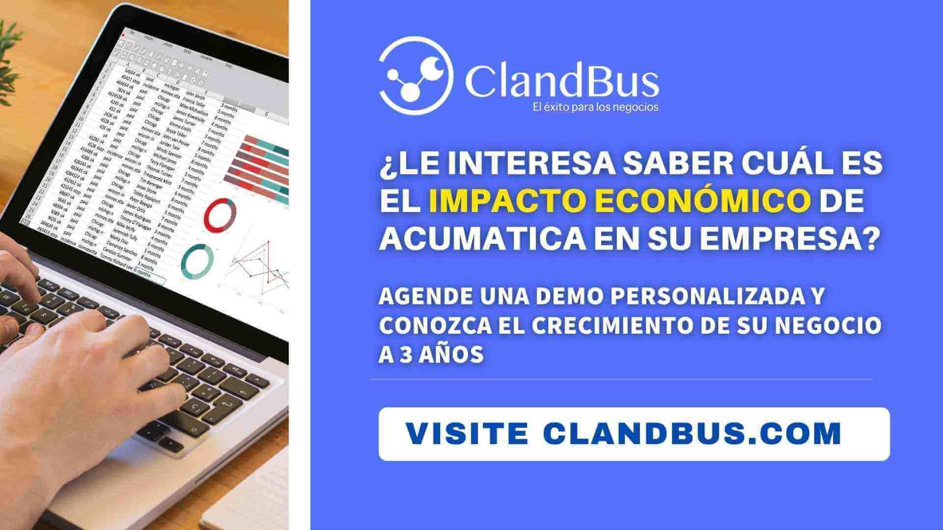 Videos de Acumatica - Conozca el impacto económico en su empresa a 3 años al eliminar cuellos de botell y errores con ClandBus
