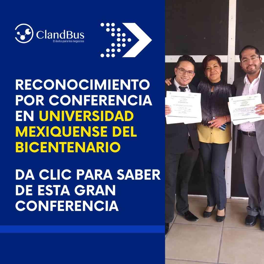 careers -RECONOCIMIENTO POR CONFERENCIA EN UNIVERSIDAD MEXIQUENSE DEL BICENTENARIO