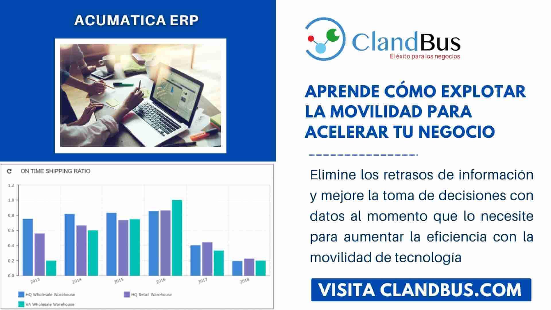 como explotar la movilidad -Aprende cómo explotar la movilidad para acelerar tu negocio con Acumatica ERP y ClandBus
