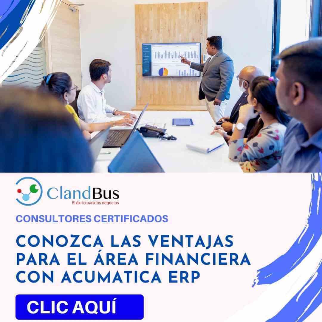 software para contabilidad - Aumente la productividad cumpliendo con flujos y mejorando sus procesos desde Acumatica en la Nube y Socios ClandBus