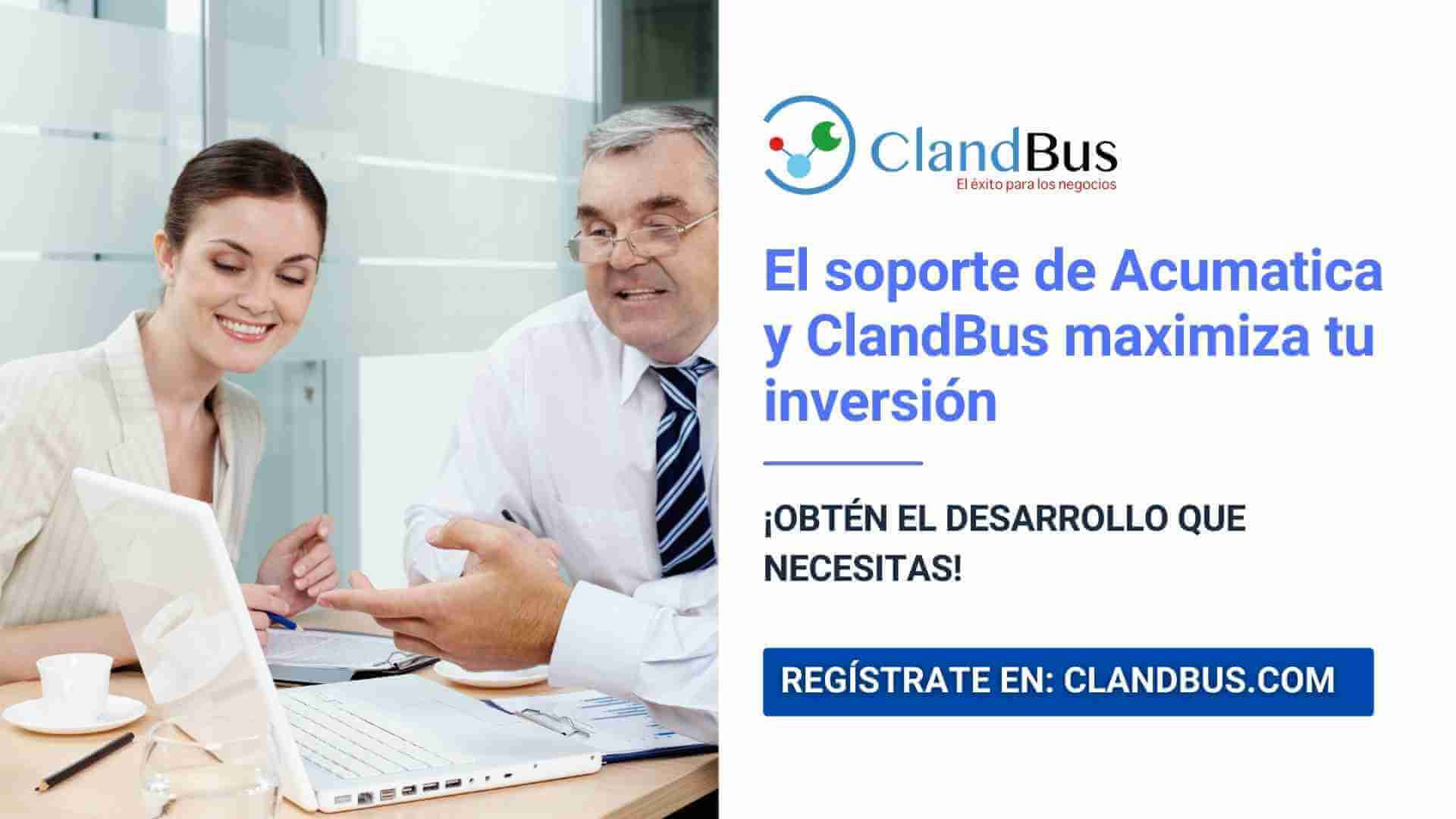 soporte de acumatica - Como el soporte de Acumatica y ClandBus maximiza tu inversión al 200%